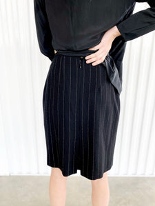 Escada Wool Pinstripe Skirt (38)