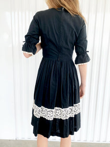 Cotton Lace Funeral Dress