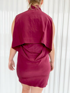 Alexander Wang Oxblood Silk Dress (8)
