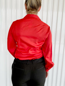 Red/Orange Blouse with Chest Pocket (12)