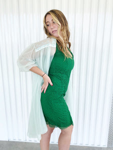 Akris Green Raw Edge Dress