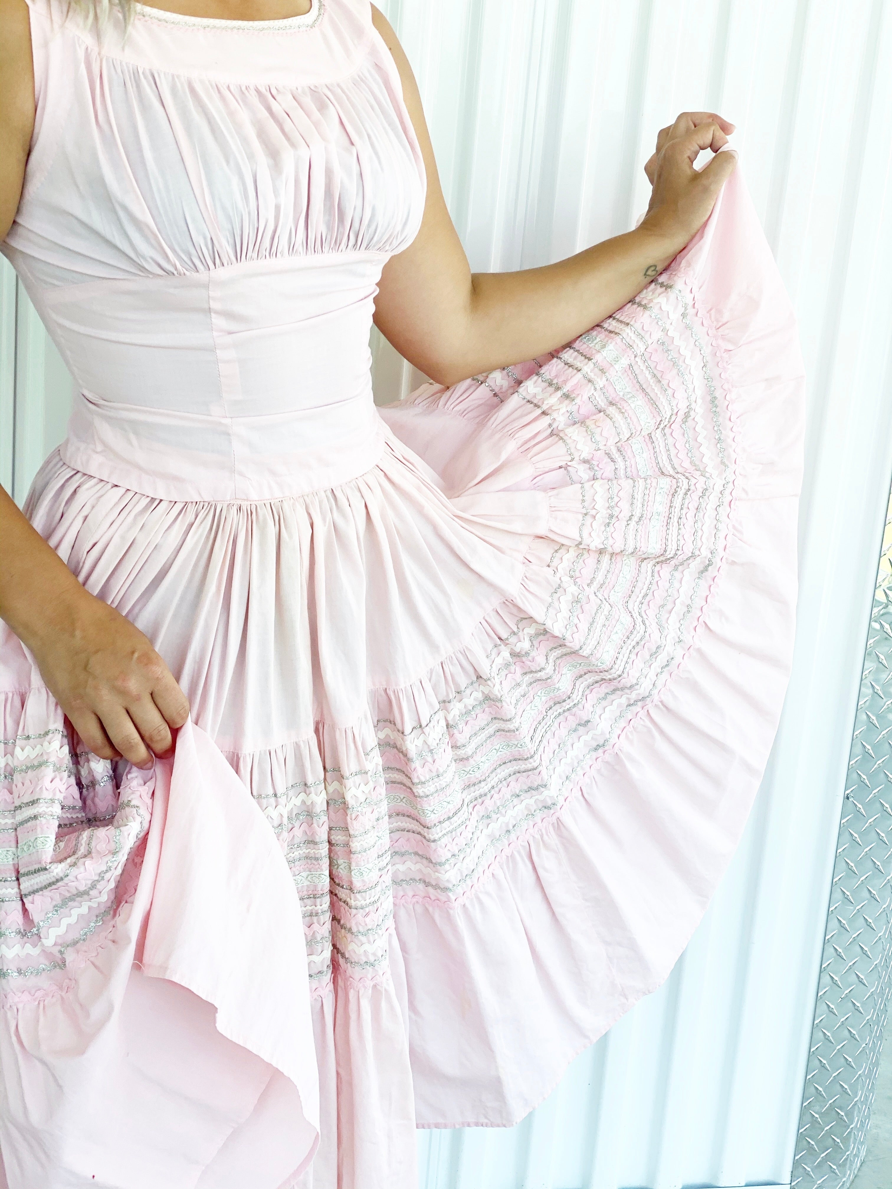 Vintage Pink Frill 2pc Outfit