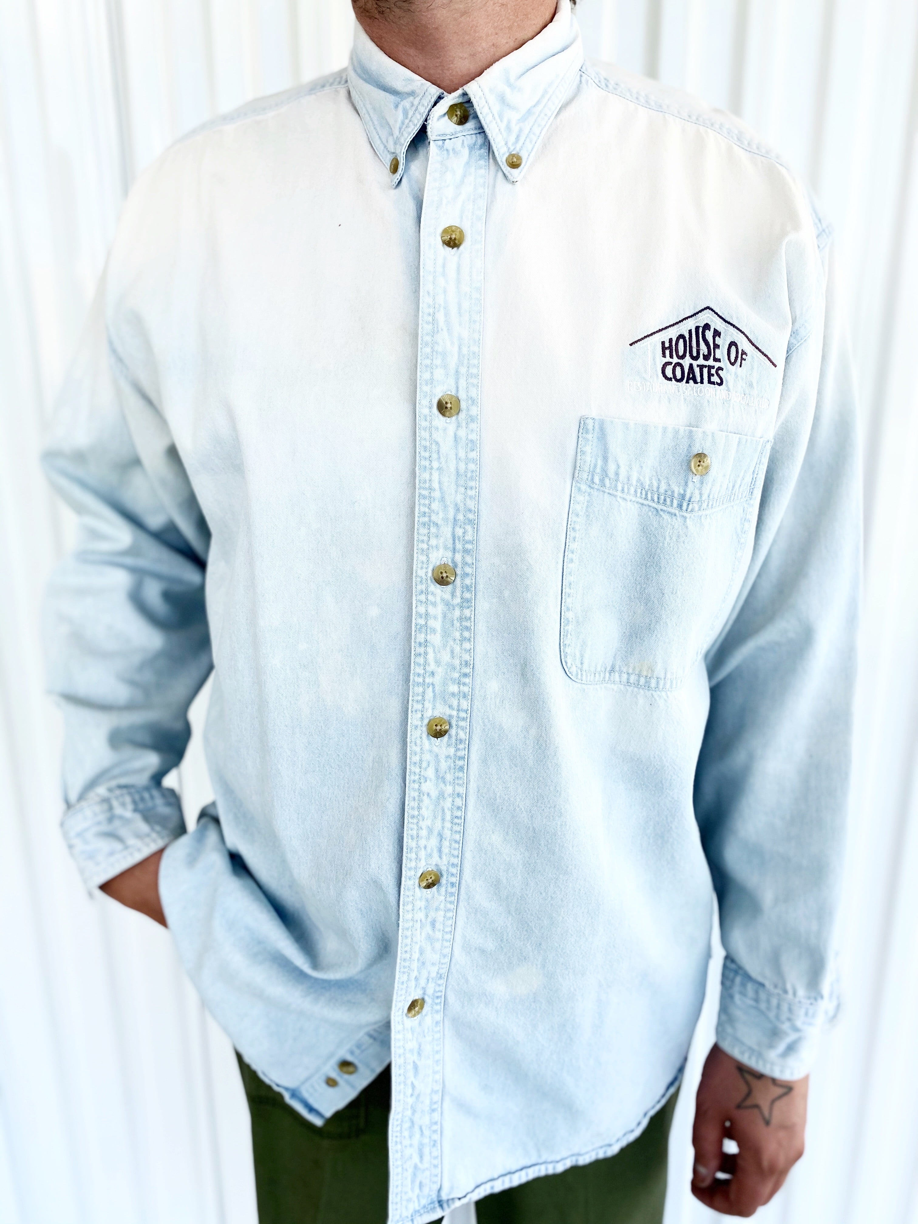 Lee House of Coates Denim Bleached Button Up