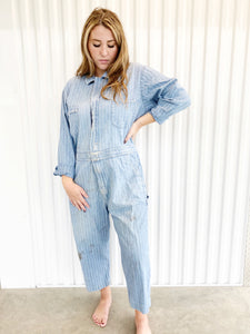 Denim Striped Jumpsuit