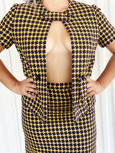Vintage Adele Simpson Houndstooth 2pc