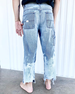 Old Navy Bleached Painter Jeans