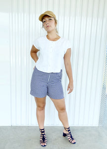 Gingham Highwaisted Shorts