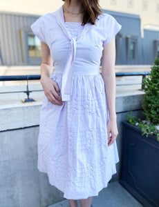 Vintage Cotton 1950s Raw Edge Dress