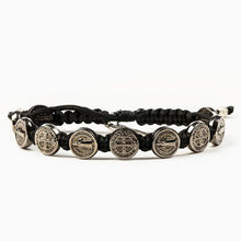 Load image into Gallery viewer, My Saint My Hero Benedictine Blessing Bracelet Black with Jet Black medals