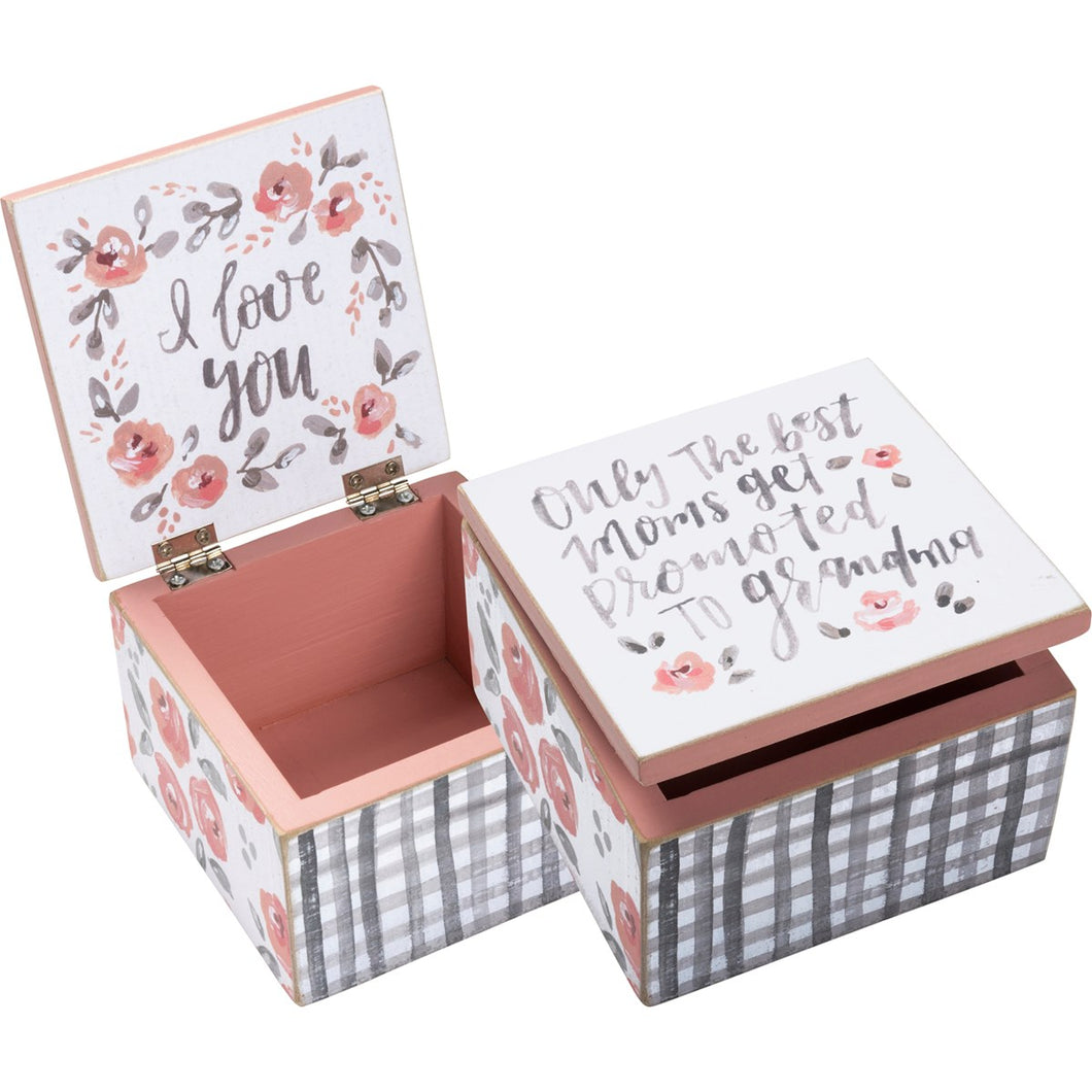 Hinged Box - Best Moms Get Promoted To Grandma