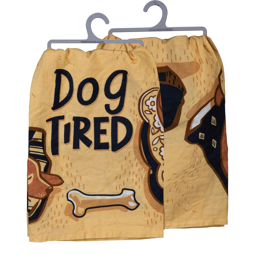Dog Tired - Dish Towel