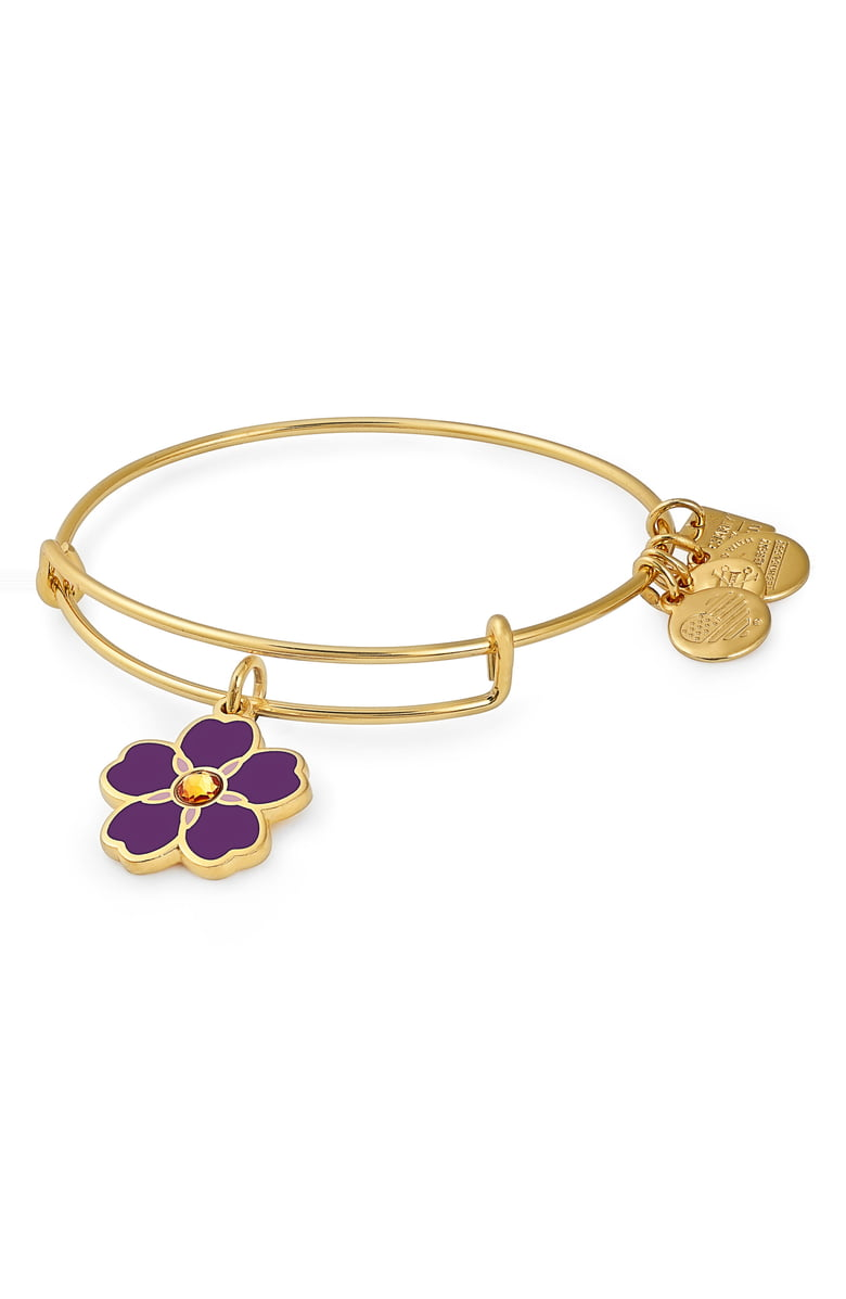 Alex and Ani Forget Me Not Charm Bangle