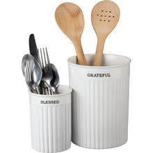 Load image into Gallery viewer, PBK Utensil Holder Set - Grateful/Blessed