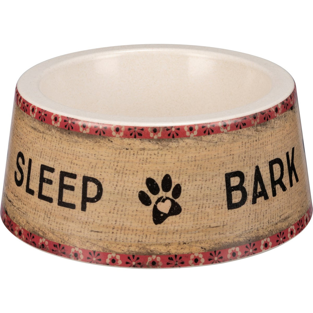 Large Pet Bowl - Eat Sleep Bark Repeat
