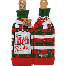 Load image into Gallery viewer, Bottle Sock - To Santa's Helper From Santa