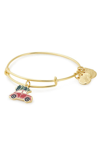 Alex and Ani Christmas Car Charm Bangle