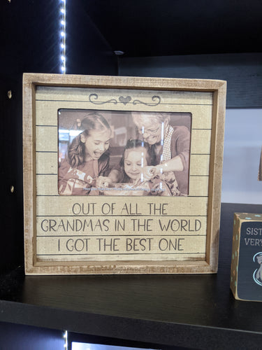 Out of All the Grandmas in the World I Got the Best One - Box Frame