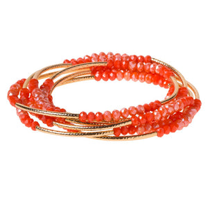 Scout Wrap : coral combo/gold