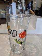 Load image into Gallery viewer, Dad Hand Painted Pint Glass