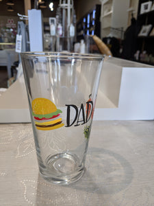 Dad Hand Painted Pint Glass