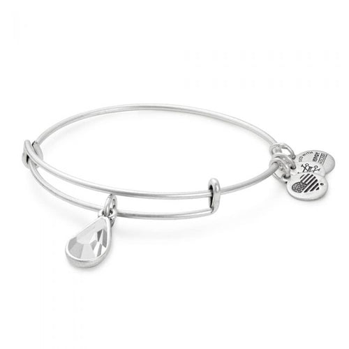 Alex and Ani - April Clear Crystal Birthstone Teardrop Charm Bangle With Swarovski® Crystals Rafaelian Silver