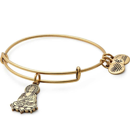 Alex and Ani Buddha Charm Bangle