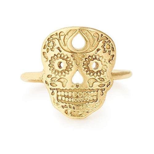 Calavera Statement Ring - 14kt Gold Plated