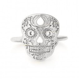 Calavera Statement Ring - Sterling Silver