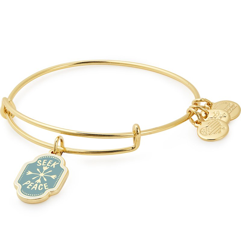 Alex and Ani Words are Powerful Seek Peace Charm Bangle
