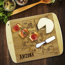 Load image into Gallery viewer, A Slice of Life Arizona Bamboo Cutting and Serving Board