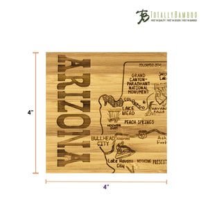 Arizona State Puzzle - 4 Piece Coaster Set with Case