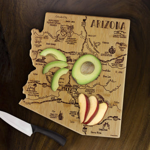 Arizona Etched Bamboo Cutting and Serving Board