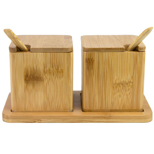 Double Dipper Salt Boxes with Spoons