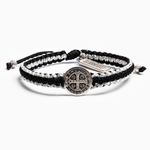 Load image into Gallery viewer, My Saint My Hero Gratitude Blessing Bracelet Metallic Silver with Silver medal
