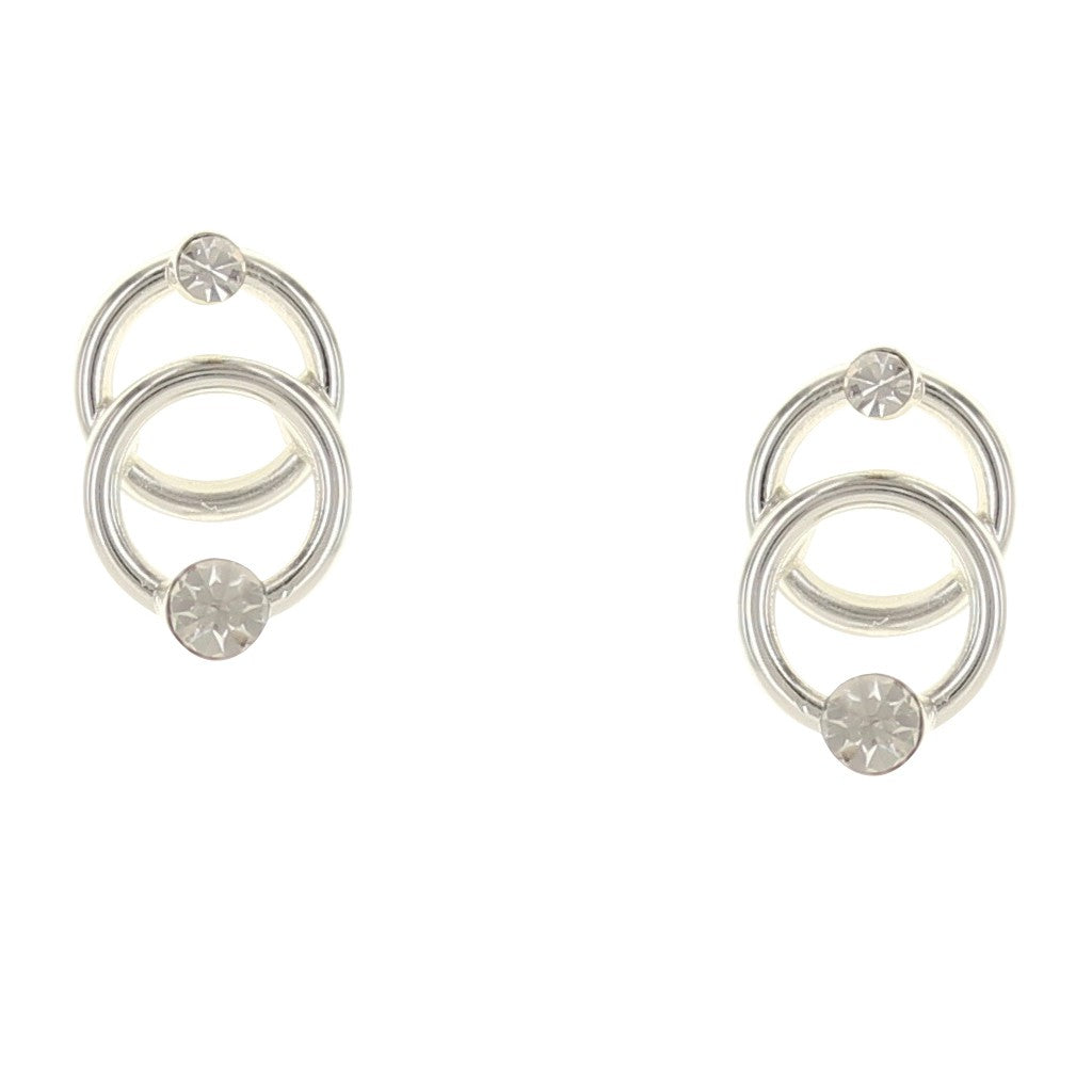 Takobia Petite Circles with Crystal Earrings