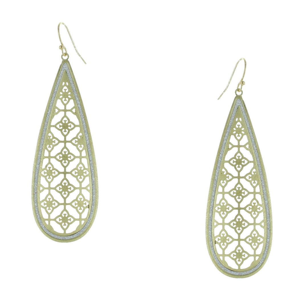 Takobia Gold Teardrop of Celtic Earrings