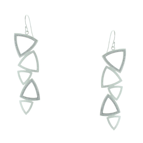 Takobia Open Drop Triangles Earrings