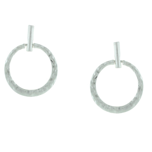 Hammered Circles Post Earrings