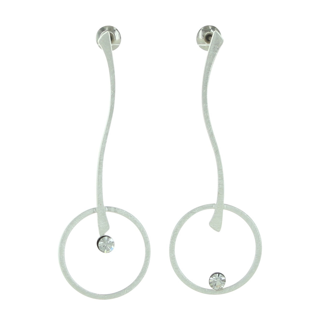 Stick and Circle Post Earrings