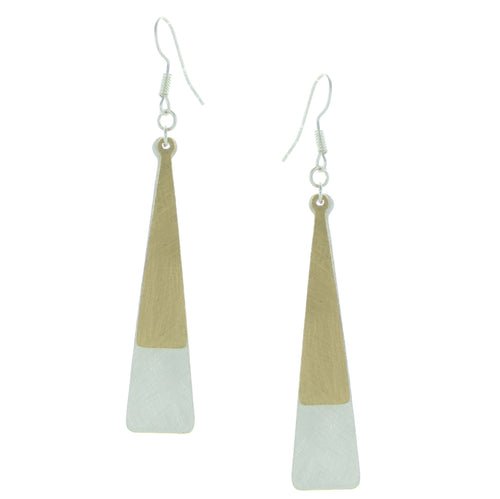 Takobia Two Tone Elegant Long Earrings
