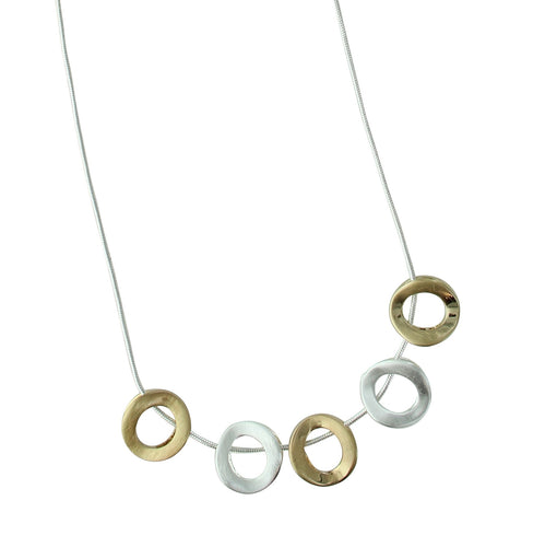 Two Tone Circles Necklace