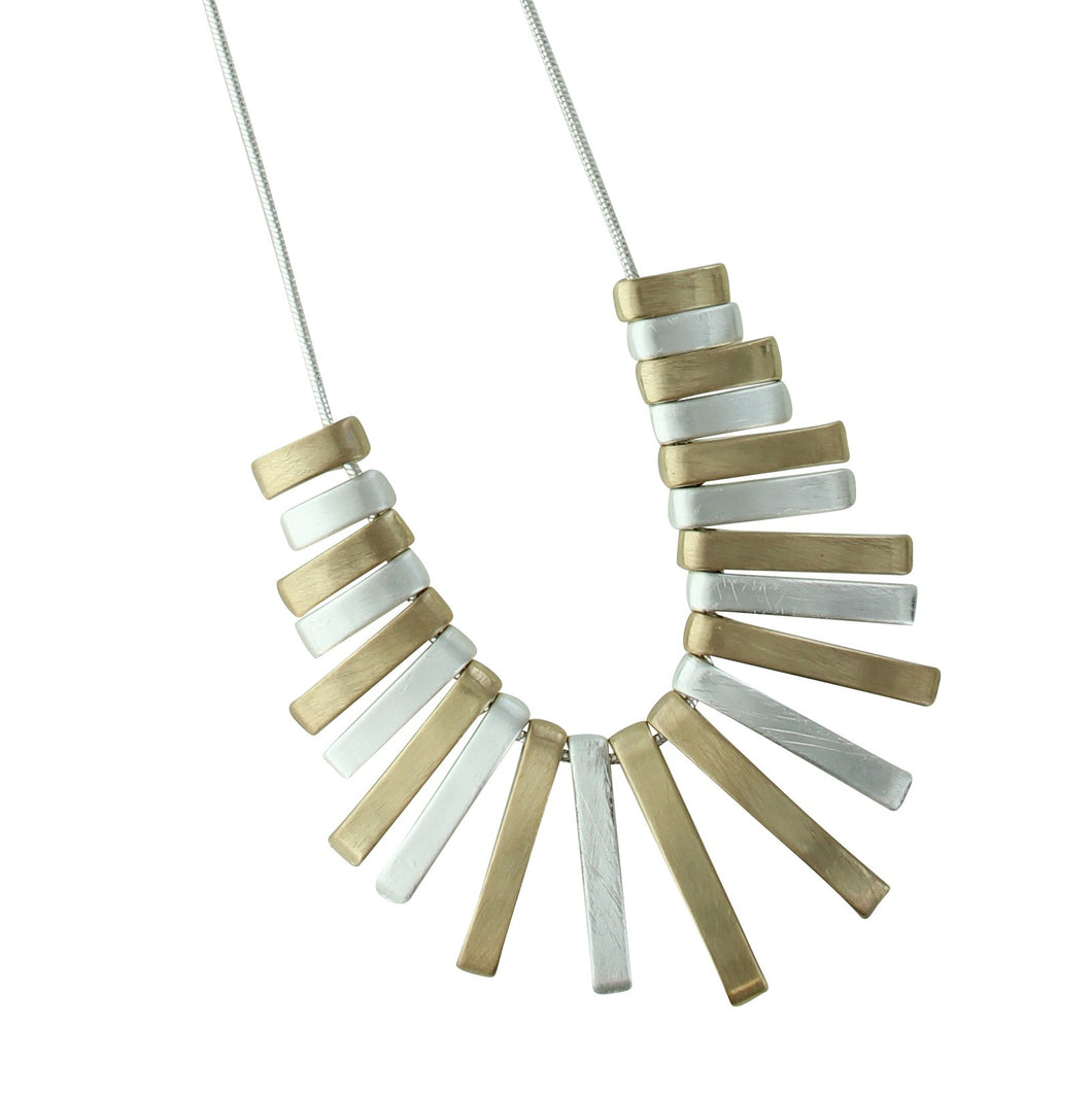 Two Tone Sticks Necklace
