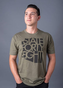 Mens Crew Neck Classic - Military Green & Black