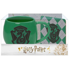 Load image into Gallery viewer, Wizarding World of Harry Potter Slytherin Crest Mug Coaster Set
