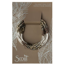 Load image into Gallery viewer, Scout Wrap : metallic tritone/silver