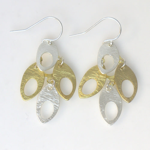 Takobia Two Tone Multi Dangle Earrings