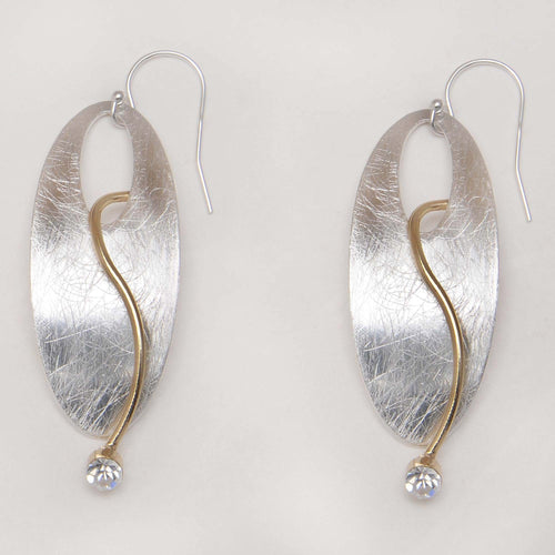 Takobia Oval with Crystal Earrings