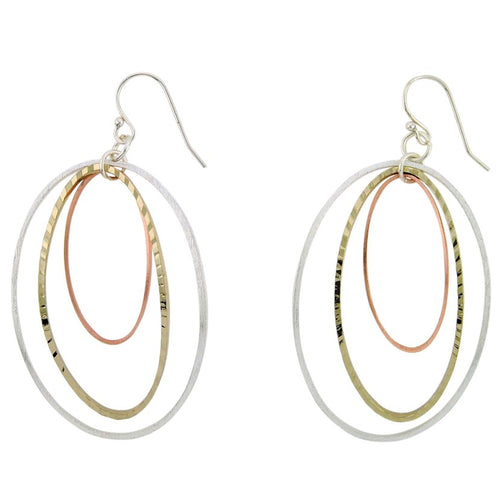 Takobia Tricolor Bent Hoop Earrings