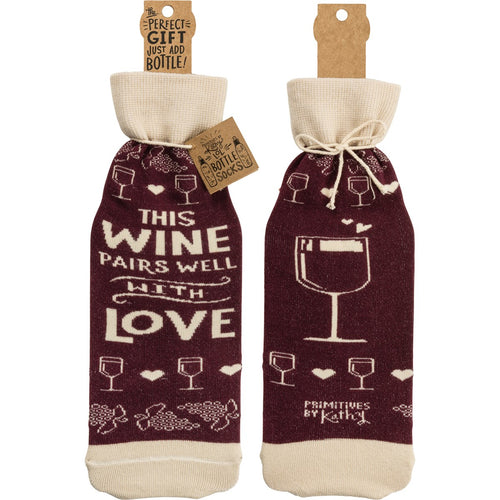 Bottle Sock - This Wine Pairs Well With Love