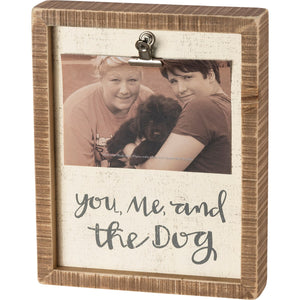 You, Me and the Dog - Inset Box Frame